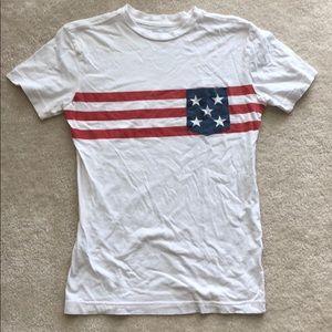Stars and Stripes men's white t-shirt small